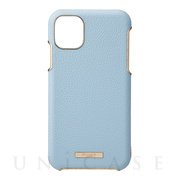 "【iPhone11 Pro ケース】""Shrink"" PU Leather Shell Case (Light Blue)"