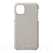 "【iPhone11 Pro ケース】""Shrink"" PU Leather Shell Case (Greige)"