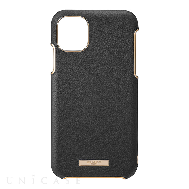 "【iPhone11 ケース】""Shrink"" PU Leather Shell Case (Black)"