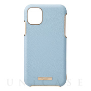 "【iPhone11 ケース】""Shrink"" PU Leather Shell Case (Light Blue)"