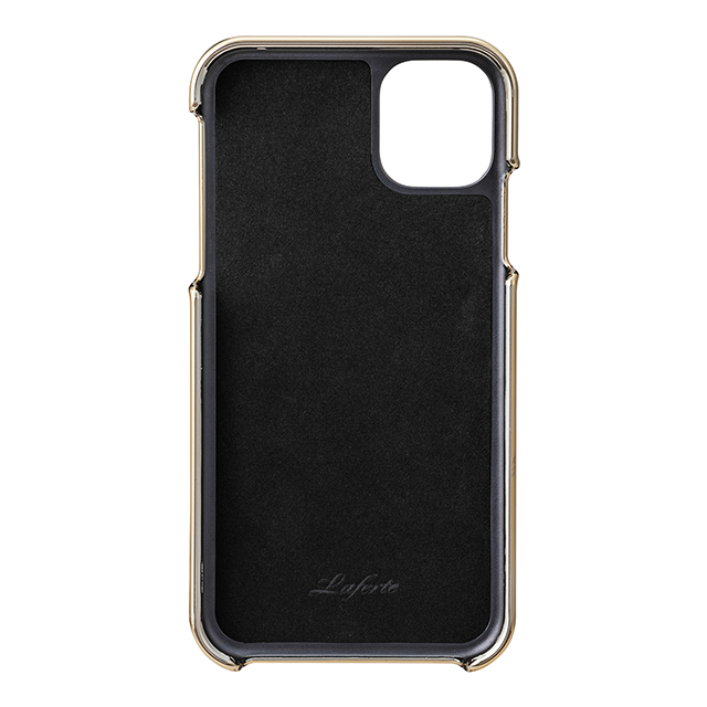 "【iPhone11 ケース】""Shrink"" PU Leather Shell Case (Black)サブ画像"