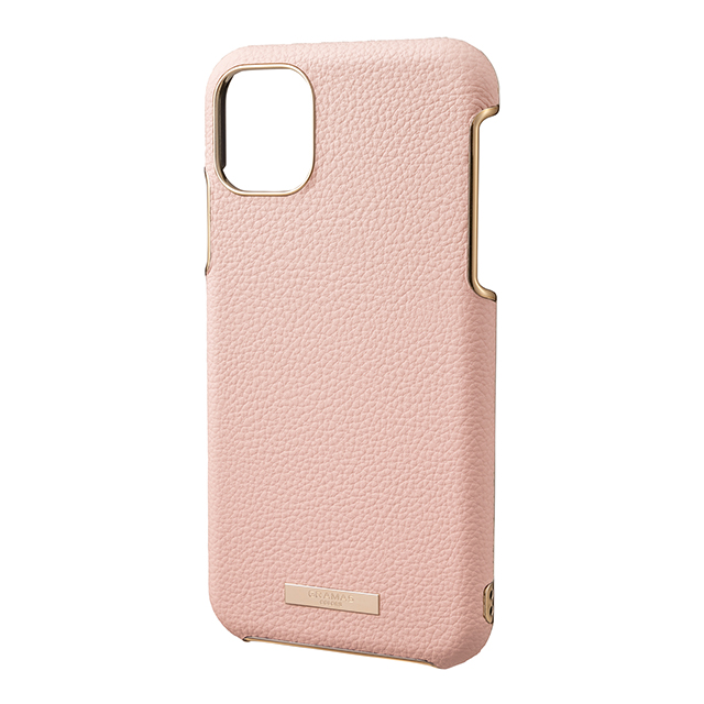 "【iPhone11 Pro Max ケース】""Shrink"" PU Leather Shell Case (Pink)サブ画像"