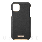 "【iPhone11 Pro Max ケース】""Shrink"" PU Leather Shell Case (Black)"