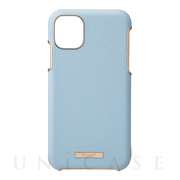"【iPhone11 Pro Max ケース】""Shrink"" PU Leather Shell Case (Light Blue)"