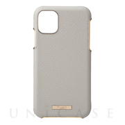 "【iPhone11 Pro Max ケース】""Shrink"" PU Leather Shell Case (Greige)"