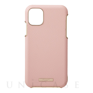 "【iPhone11 Pro Max ケース】""Shrink"" PU Leather Shell Case (Pink)"