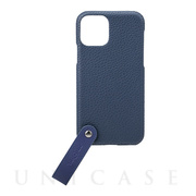 "【iPhone11 Pro ケース】""TAIL"" PU Leather Shell Case (Navy)"