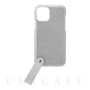 "【iPhone11 Pro ケース】""TAIL"" PU Leather Shell Case (Silver)"