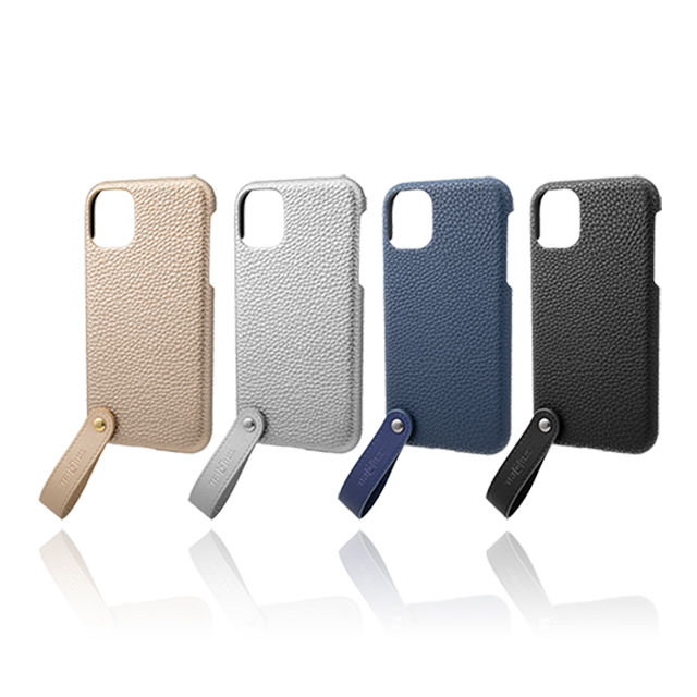 "【iPhone11/XR ケース】""TAIL"" PU Leather Shell Case (Navy)サブ画像"