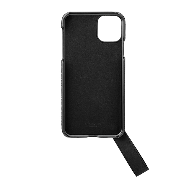 "【iPhone11 Pro Max ケース】""TAIL"" PU Leather Shell Case (Black)サブ画像"