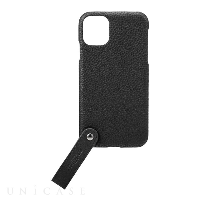 "【iPhone11/XR ケース】""TAIL"" PU Leather Shell Case (Black)"