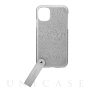 "【iPhone11/XR ケース】""TAIL"" PU Leather Shell Case (Silver)"