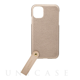 "【iPhone11 ケース】""TAIL"" PU Leather Shell Case (Gold)"