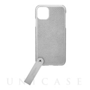 "【iPhone11 Pro Max ケース】""TAIL"" PU Leather Shell Case (Silver)"
