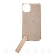 "【iPhone11 Pro Max ケース】""TAIL"" PU Leather Shell Case (Gold)"