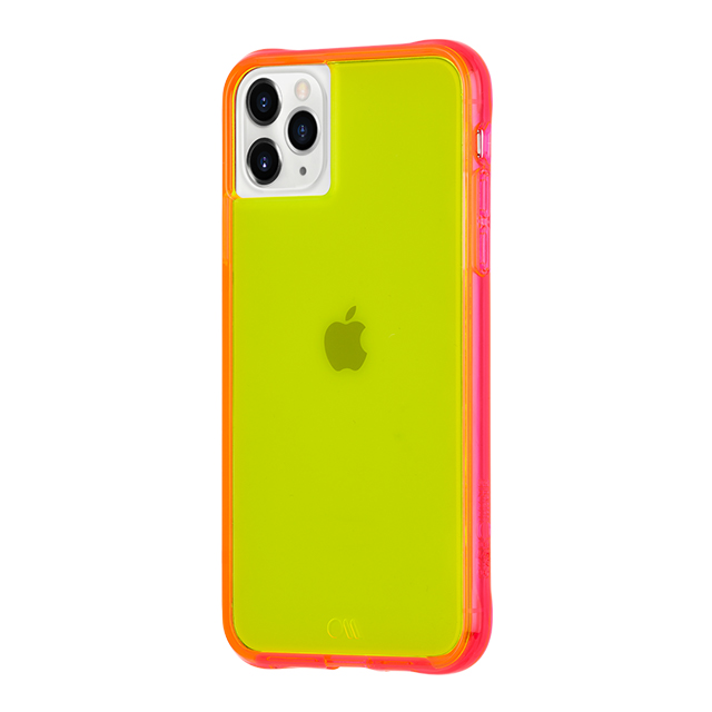 【iPhone11 Pro ケース】Tough Neon (Green/Pink)