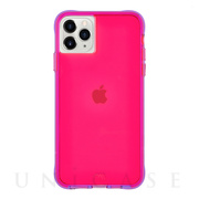 【iPhone11 Pro ケース】Tough Neon (Pink/Purple)