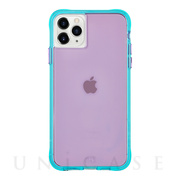 【iPhone11 Pro ケース】Tough Neon (Purple/Turquoise)