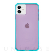 【iPhone11/XR ケース】Tough Neon (Purple/Turquoise)
