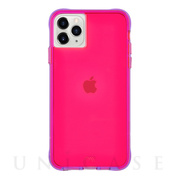 【iPhone11 Pro Max ケース】Tough Neon (Pink/Purple)