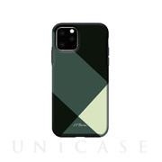 【iPhone11 Pro ケース】Simple style grid case (green)