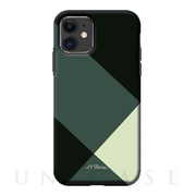 【iPhone11 ケース】Simple style grid case (green)