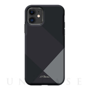【iPhone11 ケース】Simple style grid case (gray)