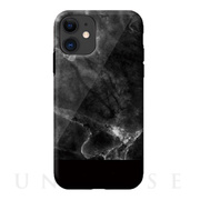 【iPhone11 ケース】Marble series case (black)