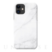 【iPhone11 ケース】Marble series case (white)