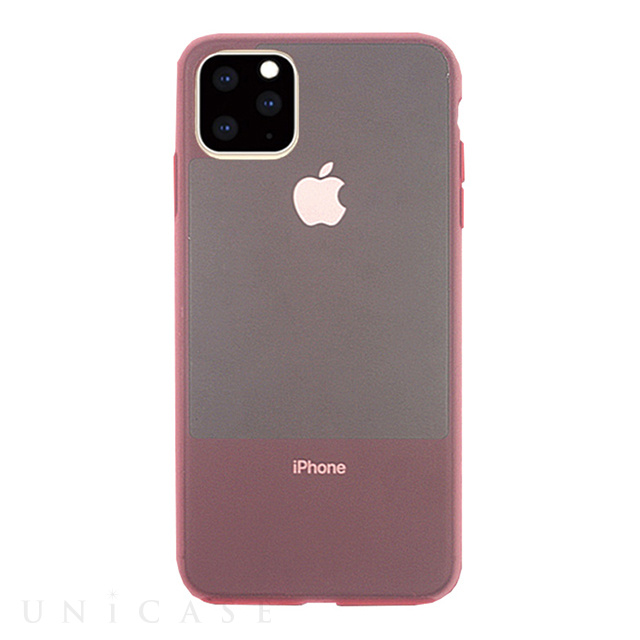 【iPhone11 Pro ケース】CONTRAST SILICON (Pink)