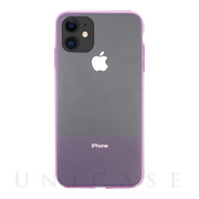 【iPhone11 ケース】CONTRAST SILICON (Purple)
