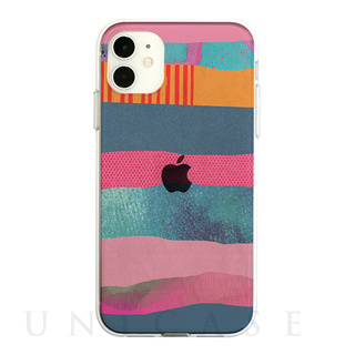 【iPhone11 ケース】ソフトクリアケース (PINK SONG STRIPE)
