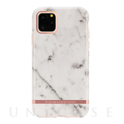 【iPhone11 Pro ケース】White Marble -...