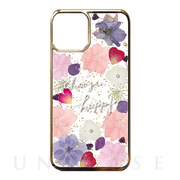 【iPhone11 Pro ケース】Pressed flower case (Pink tone)