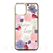 【iPhone11 ケース】Pressed flower case (Pink tone)