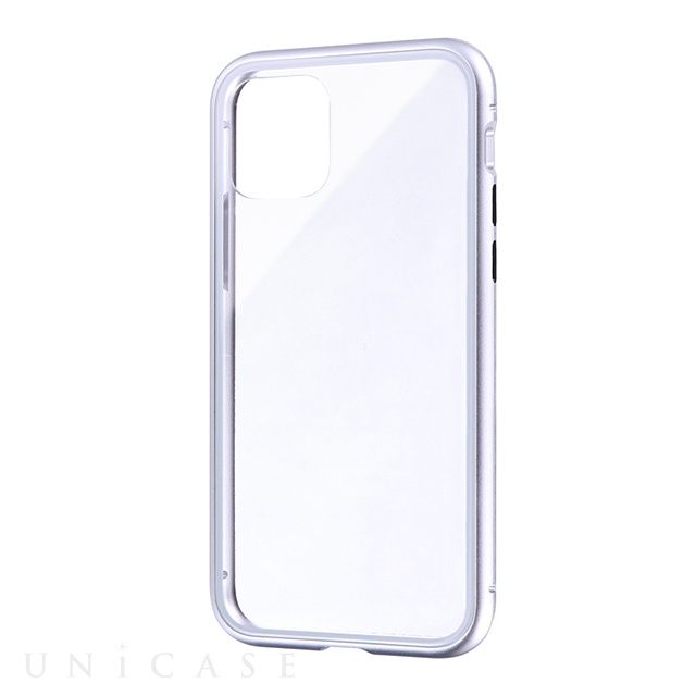 【iPhone11 Pro ケース】SHELL GLASS Aluminum (シルバー)