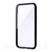 【iPhone11 ケース】SHELL GLASS Aluminum (ブラック)