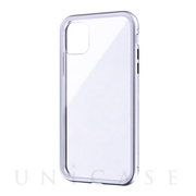 【iPhone11 ケース】SHELL GLASS Aluminum (シルバー)