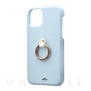 【iPhone11 Pro ケース】SHELL RING Katie (ブルー)