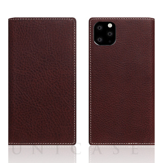 【iPhone11 Pro ケース】Minerva Box Leather Case (ブラウン)