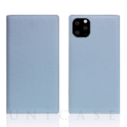 【iPhone11 Pro ケース】Full Grain Leather Case (Powder Blue)