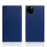 【iPhone11 Pro ケース】Full Grain Leather Case (Navy Blue)