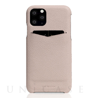 【iPhone11 Pro ケース】Full Grain Leather Back Case (Light Cream)
