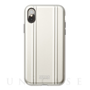 【アウトレット】【iPhoneXS ケース】ZERO HALLIBURTON Hybrid Shockproof case for iPhoneXS (Silver)