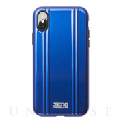 【アウトレット】【iPhoneXS ケース】ZERO HALLIBURTON Hybrid Shockproof case for iPhoneXS (Blue)