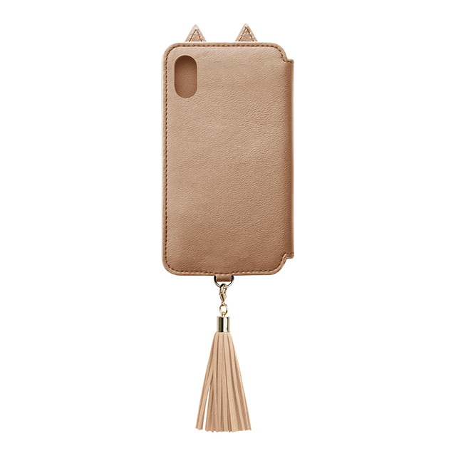 【アウトレット】【iPhoneXS/X ケース】Tassel Tail Cat for iPhoneXS/X (Gold)