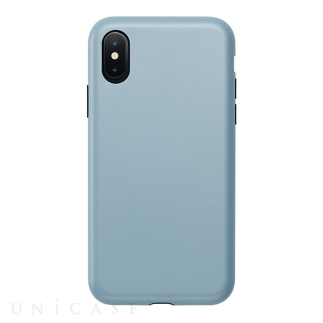 【アウトレット】【iPhoneXS/X ケース】Smooth Touch Hybrid Case for iPhoneXS/X (Stone Blue)
