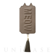 【アウトレット】【iPhoneXS/X ケース】Tassel Tail Cat for iPhoneXS/X (Gray)