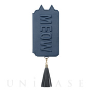 【アウトレット】【iPhoneXS/X ケース】Tassel Tail Cat for iPhoneXS/X (Navy)