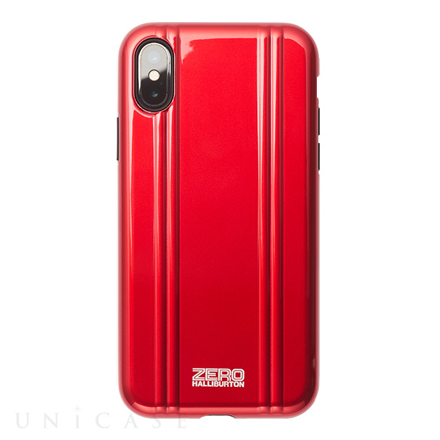 【アウトレット】【iPhoneX ケース】ZERO HALLIBURTON Hybrid Shockproof case for iPhone X(RED)